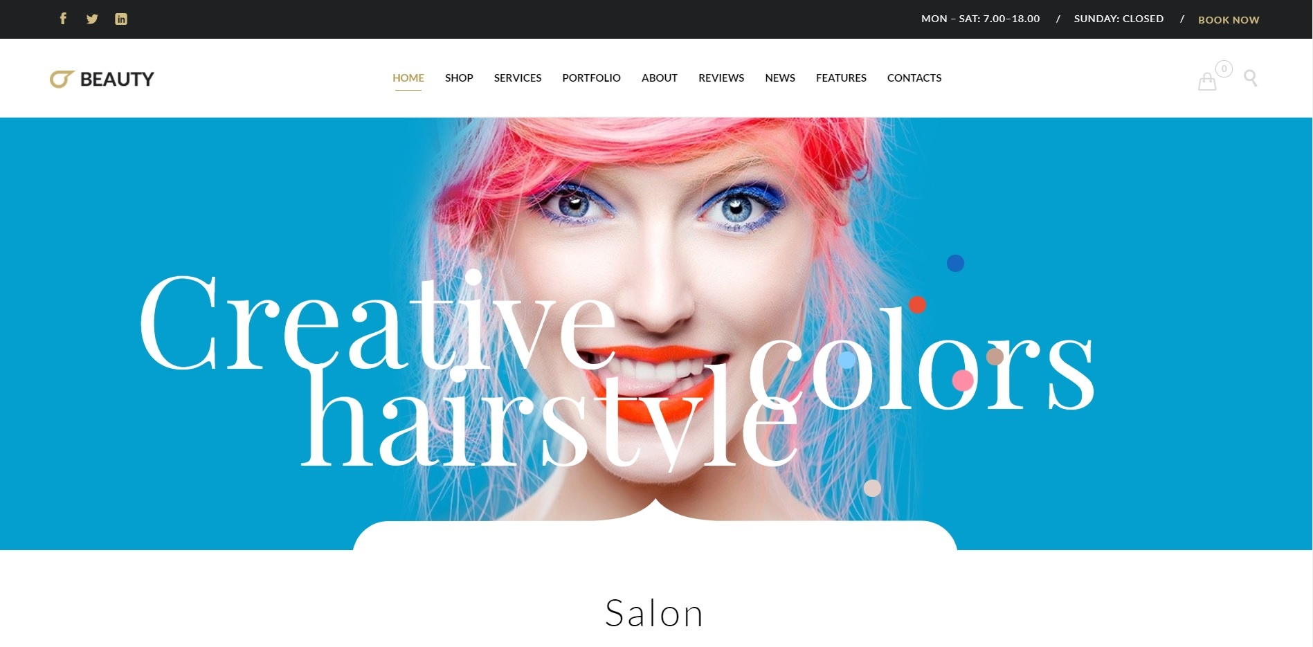 Beauty & Hair website